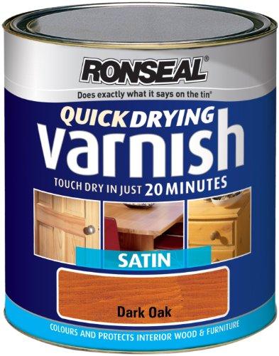Ronseal QDVSDO250Lackfarbe 250ml Quick Dry Lack Farbige Satin–Eiche dunkel (Satin Lack Farbigen)