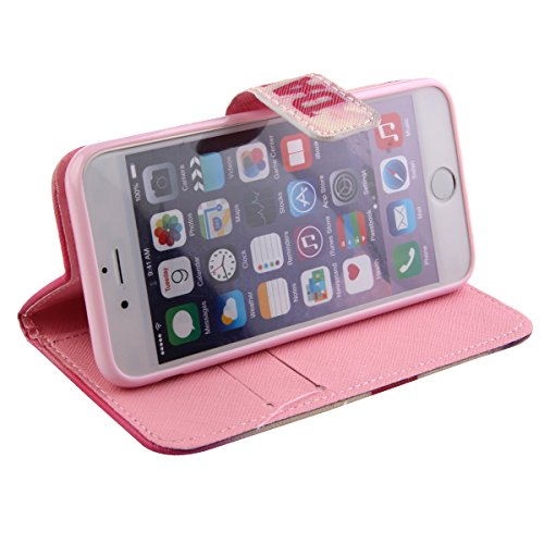iPhone 6S plus Leather Case, Felfy Ultra Slim Flip Sprichwort It is a beautiful day Muster Ständer mit Credit Card Slots Magnetverschluss PU Leder Cover für Apple iPhone 6 plus / 6S plus 5.5 Zoll Etui It is a Beautiful day