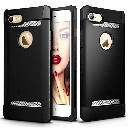 iPhone 7 Hülle (4,7 Zoll), ESR® Shielder Series Dual Schicht Rückdeckel Militär Stoßdämpfende Schutzhülle für iPhone 7 Schwarz Schwarz