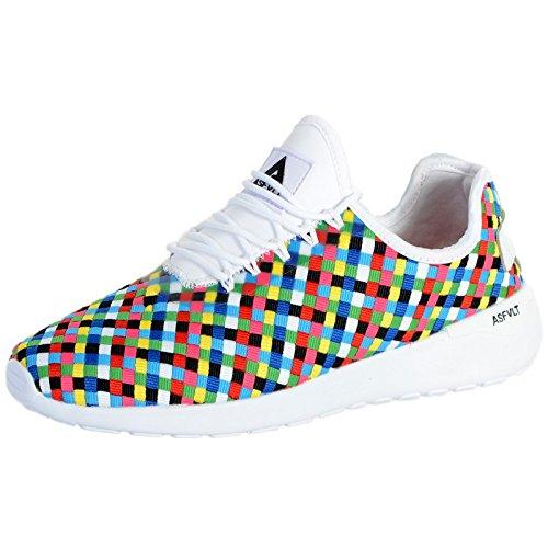 Asfvlt sneakers SS005 speed socks woven ribbon multicolor nr.41