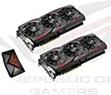 ASUS Computer 2x ROG Strix GeForce GTX1080 8GB [ Advanced ] Gaming Grafikkarten SLI Bundle inklusive 1x ROG-SLI-HB-Bridge [ 3SLOT ]