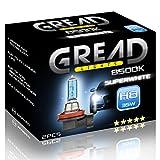 2x H8 Halogen Lampen in Xenon Optik von Gread Lights | Super White | 8500k 35W | E-Prüfzeichen | 100% Passgenauigkeit & lange Lebensdauer