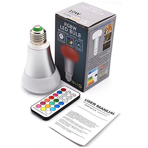 RGBW Bombillas 10W E27 LED Múltiples Colores Regulable Cambia l'arredo per l'illuminazione...