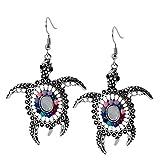 Geralin Gioielli Damen Ohrringe Schildkröte Ohrhänger Silber Weiß Maori Fashion Vintage