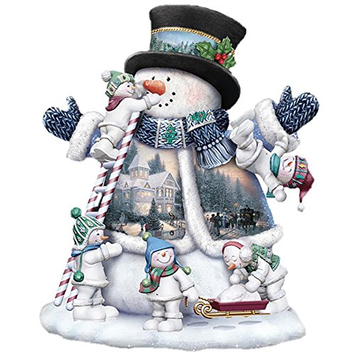 ShuoBeiter 5D Diamant Kits Malen Nach Zahlen Neu DIY Diamant Malerei Kit für Erwachsene Kinder Kreuzstich Stickerei Kunst Handwerk Wand-Dekor Weihnachten Geschenke (Snowman E)