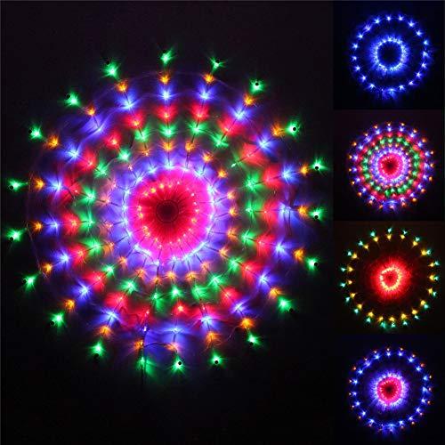 ELEGENCE-Z 160 Mehrfarben-LED, die kreisförmige Web-Fenster-Vorhang-Netz-Weihnachtslichter jagt (verwendbar für Innen- / im Freien) - 1.2 * 1.2M