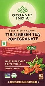 Organic India Tulsi Green Tea, Pomegranate, 25 Tea Bags