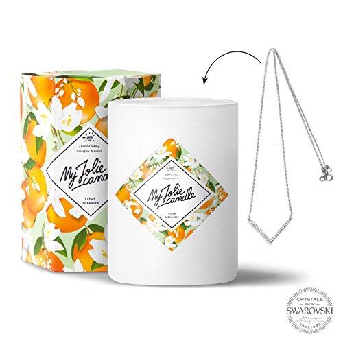 My Jolie candle - Bougie bijou Fleur d'oranger - Collier