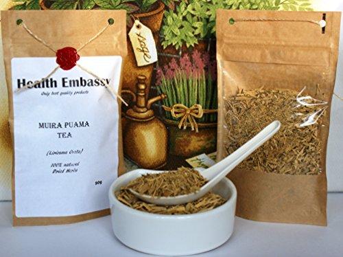 Muira Puama Tee (Liriosma ovata) 50 g / Muira Puama Tea 50 g - Health Embassy - 100% Natural