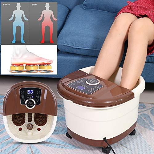 500W Tragbare Elektrisch Fußbadewanne Fußbad Spa Fußbad Massagegerät Vibration Pediküre Einweichen Wanne für die durchblutung und entlastung von müdigkeit, Anzug für den Heimgebrauch -