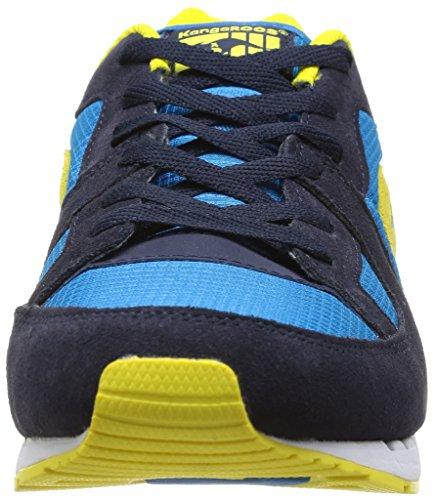 Kangaroos Coil R1 Herren Sneaker Blau (Bleu (Dk Navy/Acid Yellow 477))