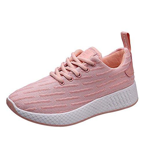 DOGZI Sneakers Damen Turnschuhe Damen High Top Laufschuhe Damen Wanderschuhe Damen Frauen Sportschuhe Frauen Light Sneakers Atmungsaktive Mesh Freizeitschuhe Walking Outdoor Laufschuhe