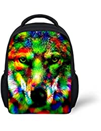 Colorful Galaxy Animal Printing Mini School Backpack For Baby Toddler Boys By Pzz Beach
