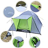 COSTWAY 3-4 Person Outdoor Tent Waterproof Double Layer Portable Dome Durable Camping Hiking