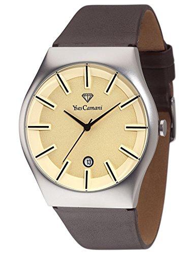 Yves Camani Loann - Reloj para hombre, color negro / crema