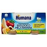 Humana Omogenizzato Mela e Banana Bio - 12 Vasetti da 100 gr