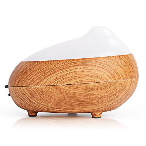 Humidificateur Diffuseur Aroma, Vikoo Diffuseur D'huiles Essentielles Aromathérapie Ultrasonique Cool Mist Humidificateur (100ML, Grain de Bois)