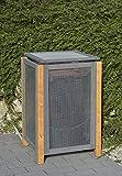 Holz / Alu Mülltonnenbox Kirchdorf für 1 x Mülltonnen 240 Liter