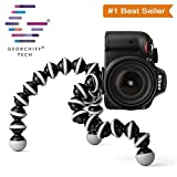 #2: GEORCHIFF® Flexible GORILLA TRIPOD Light weight For Digital Camera, DSLR & Smartphones with Universal Mobile Holder by (BLACK & WHITE) [ 6 INCH ]