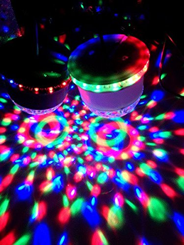 Ibiza LED UFO Lichteffekt LED-Untertasse Decken-Beleuchtung (48 leuchtstarke RGB LEDs, Automatik, Ne - 5