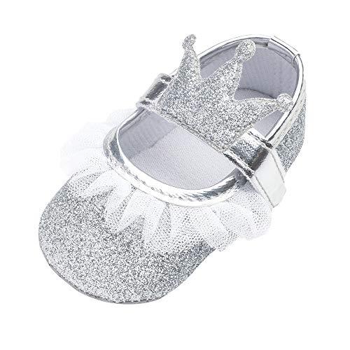 MCYs Baby Mädchen Blume Bling Krone Spitze zufälliger Schuhe Mode Kleinkind Wanderer Schuhe Lauflernschuhe Krabbelschuhe Babyhausschuhe - Party Kleinkind-mädchen-kleider