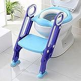 HTTMYY Bambino Toilette Scaletta WC Pieghevole Sede Di Allenamento Slittata Vasino Sedia Multifunzione Cuscino Hadr , A
