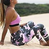 HANLILI 2018 Frauen Camo Yoga Yoga Hose Frauen Leggins Camouflage hohe Taille, Strumpfhosen Frauen Hochwertige Fitness Sport Leggings, Pink, XL