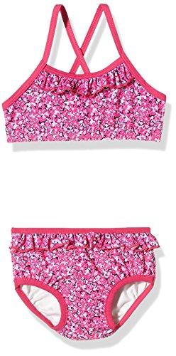 NAME IT Mädchen Zweiteiler Nitzelma M Bikini W. Shield 216, Mehrfarbig (Beetroot Purple), 98 (Mini-rüschen-bikini)