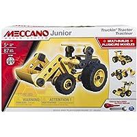 Meccano Junior Tractor Juego de construcción de varios modelos de vehículos 87pieza(s) - juegos de construcción (Juego de construcción de varios modelos de vehículos, 5 año(s), 87 pieza(s), Negro, Amarillo, 350 mm, 80 mm)