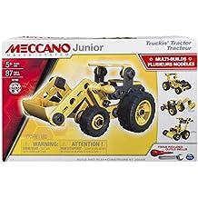 Meccano Junior Tractor - juegos de construcción (Vehicle erector set, 5 año(s), 87 pieza(s), Negro, Amarillo, 350 mm, 80 mm)