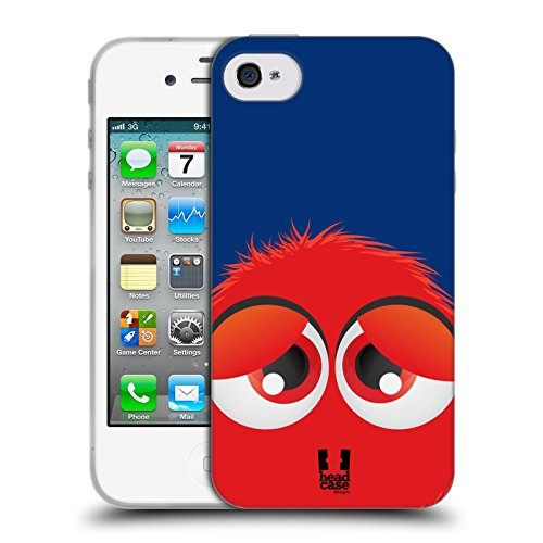 Head Case Designs Giallo Fuzzballs Cover Morbida In Gel Per Apple iPhone 7 / iPhone 8 Rosso