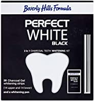 Beverly Hills Formula Perfect White Black 2in1 Charcoal Teeth Whitening Kit - 28 Strips + Whitening Pen