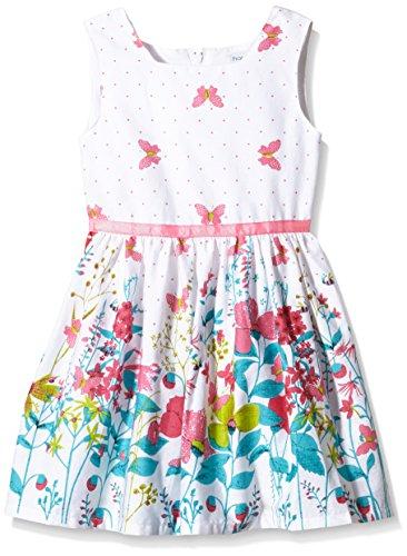 Happy Girls Mädchen Kleid mit Print, Geblümt, Gr. 110, Mehrfarbig (pink 37)