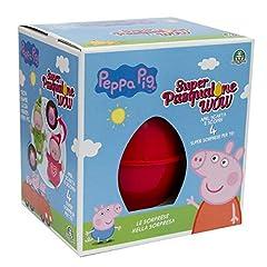 Idea Regalo - Giochi Preziosi Pasqualone 2019 Peppa Pig, Contenitore a Forma di Uovo con Tante Sorprese