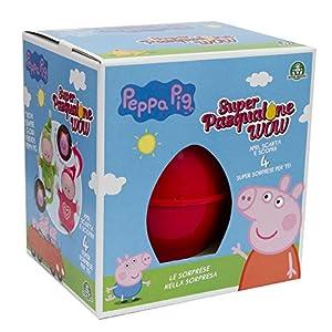 Giochi Preziosi pasqualone 2019Peppa Pig, Contenedor con Forma de Huevo con Muchas sorpresas