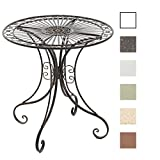 CLP Gracieuse Table de jardin en fer forgé HARI, Table de bistrot au style nostalgique, Table jardin fer, diamètre Ø 70 cm bronze