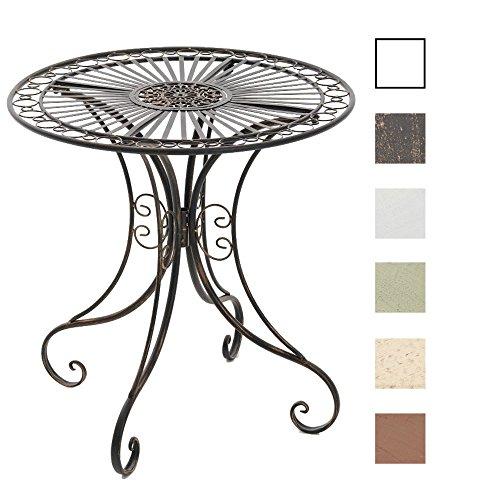 CLP Eisentisch Hari im Jugendstil I Gartentisch mit kunstvollen Verzierungen I erhältlich Bronze