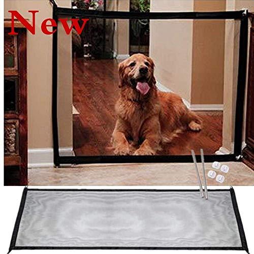 BOENTA Pet Tor Hund Sicherheit Treppe Indoor Tor Tragbare Falten Mesh Schutz mit Klebehaken für Hunde Katzen (180 * 72 cm) -