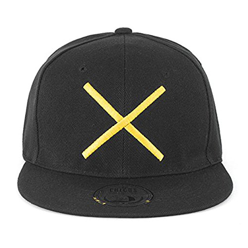 Johnny Chicos UNISEX Herren Damen Cap KING QUEEN MUSIC TIGER ADLER NY Verstellbar Snapback Flex (One size, Kreuz Gelb)