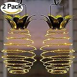 Led Solarleuchten Garten - 2 Teile/satz Solar Eisen Ananas Licht Kupferdraht LED Garten Licht Versenkbare Im Freien Wasserdichte Wohnkultur Beleuchtung - Colinsa