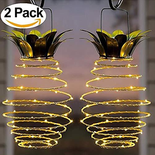 Eisen-satz (Led Solarleuchten Garten - 2 Teile/satz Solar Eisen Ananas Licht Kupferdraht LED Garten Licht Versenkbare Im Freien Wasserdichte Wohnkultur Beleuchtung - Colinsa)