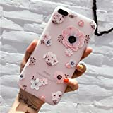 Ting Ting Relief Tpu Ultra-Thin Scrub Silicone Phone Cases For Iphone 5, 5C, 5S and SE - Light Pink