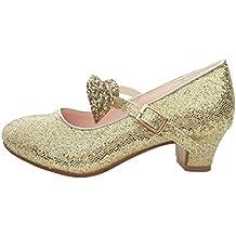 detailed look f38da cbd0f Amazon.it: scarpe bambina con tacco - Oro