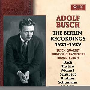 Adolf Busch:the Berlin Recs 19 [Import anglais]