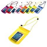 BRALEXX Universal Wassertasche passend für Samsung Galaxy A3, Gelb, 5 Zoll
