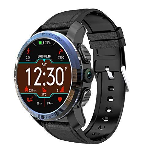 bloatboy | Kospet Optimus Smartwatch - 2GB 16GB 800 mAh Batterie Dual Systems 4G Smart Watch - IP67 Wasserdicht 1,39 Zoll AMOLED-Bildschirme Fitness Tracker Männer (Schwarz) (Leder Nachricht Taschen Für Männer)