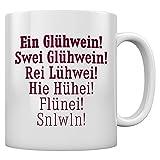 Ein Glühwein swei - Adventszeit Geschenktasse Kaffeetasse Tee Tasse Becher 11 Oz. Weiß