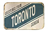 LEotiE SINCE 2004 Fuß Hunde Matte Bett Fernweh Stadt Toronto Kanada Bedruckt 40x60 cm