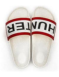 Botas de agua Hunter Slide White, color blanco, talla 37