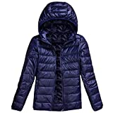 Daunenjacken Jacken Damen Leichtes, verpackbares, winddichtes Navy 3XL